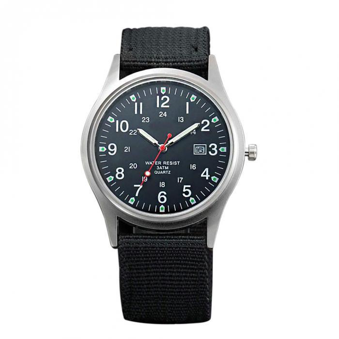HTB1dqsOav9TBuNjy0Fcq6zeiFXaU Fashion Men Military Watch Quartz Analog Clock Canvas Wristband Sports Army Waterproof Wristwatch ~ @88 LXH