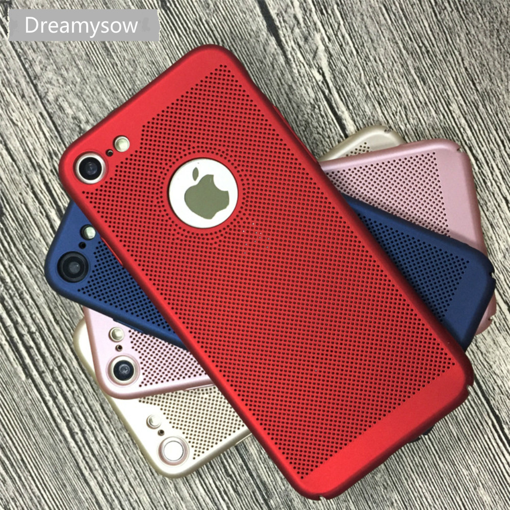 Heat Dissipation PC Cases For iPhone X Case For iPhone 10 Ten 8 7 Plus Hard Back Cover for iPhone 6 6S 7 Plus 5s SE 5fundas