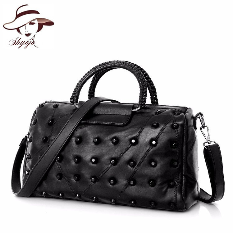 genuine leather messenger bag boy chains flap bag handbag women 100% sheepskin  classic luxury brand ... ad6b56784663