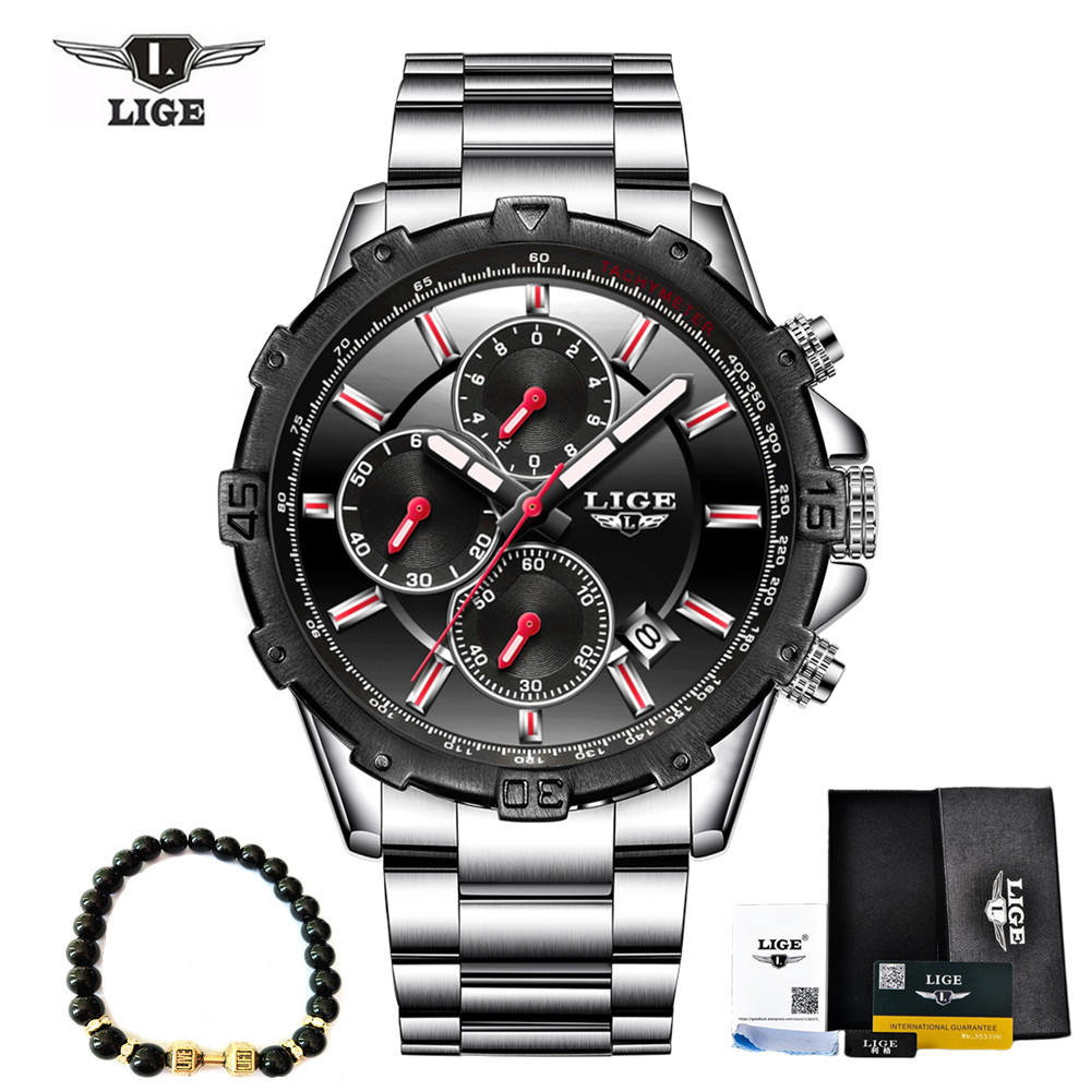 Men's Full Steel Business Watch Date Chronograph Quartz watch