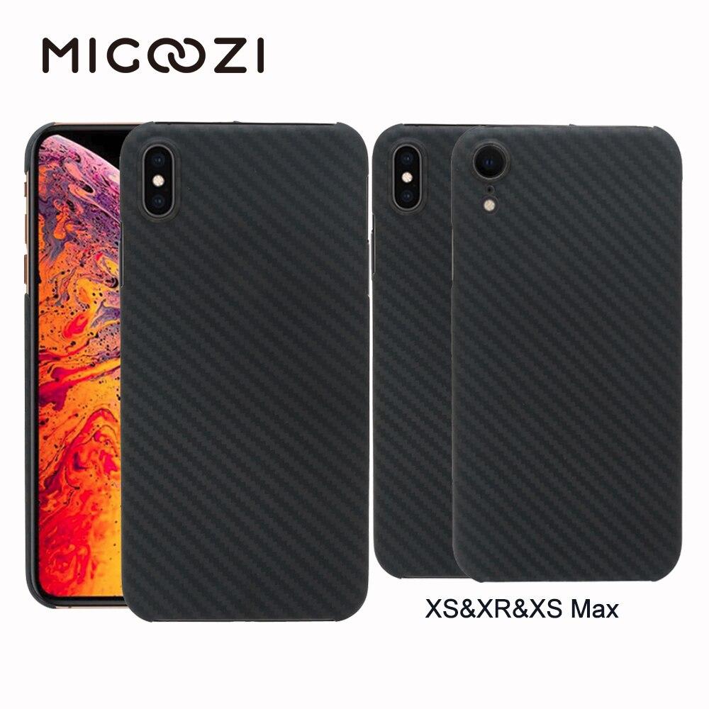 Nouveau pour iPhone XS Max XR étui en Fiber de carbone Ultra mince étui de protection en Fiber d'aramide pour iPhone XS XR XS Max