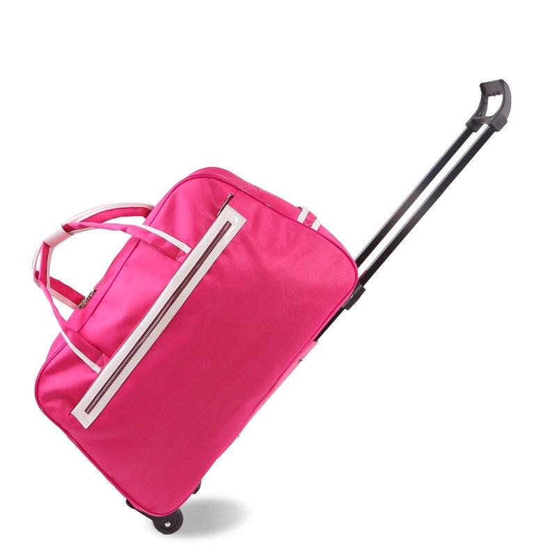 Sac de chariot de voyage se tenir au courant femelle super grande capacité sac de bagage de chariot à bagages sac de voyage sac de voyage portable masculin