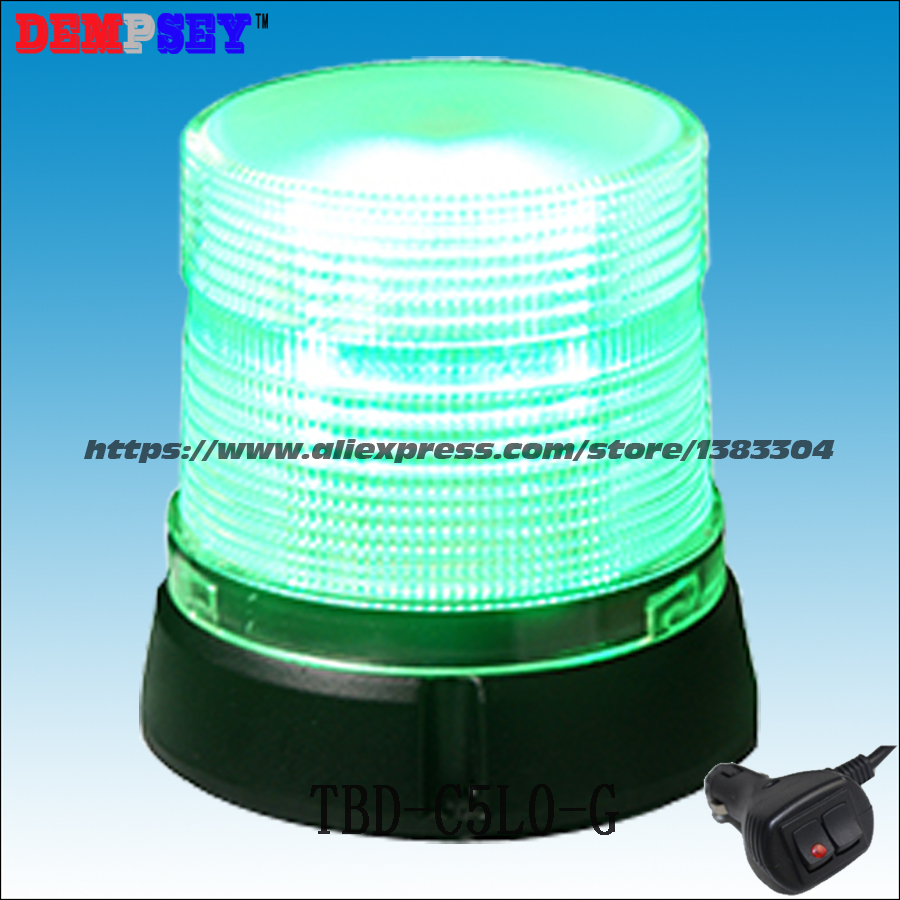 Dempsey Emergency Strobe Tower Beacon Light/Green LED Lamp Warning Signal Lights/Car Top Roof Accessories Light(TBD-C5L0-G) dempsey police strobe light led strobe lights emergency warning light for truck led strobe beacon with magnet red blue tbd c3l5
