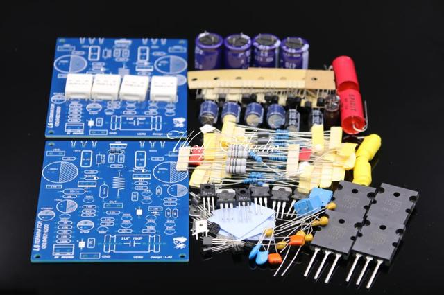 LJM hoge end versterker DIY KIT L6 Audio stero Eindversterker Kit 1943 5200 2 CHANNELS