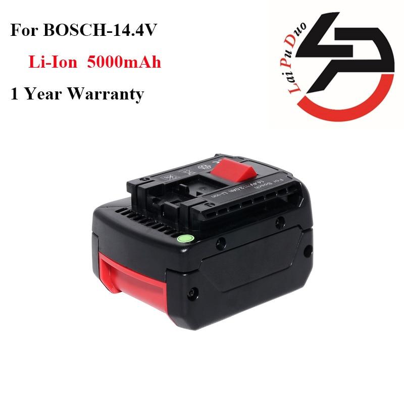 High quality 14.4v 5.0Ah Li-Ion Replacement power tool battery for Bosch: BAT607G,GSR14.4-Li,BAT614G , BAT607,2607336318,BAT614 high quality 20v 2000mah li ion rechargeable battery power tool replacement battery for black
