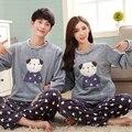 Новое поступление фланелевые пижамы зима женщины и мужчины пижамы наборы пара пижамы домашней одежды комфортно Пижамы pijamas mujer