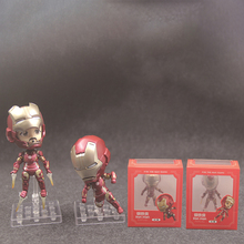 The Avengers 3 Austrian Iron Man Q Edition Two dolls DOLL Action Collectible Statue Toy Figure statue avengers iron man bust 1 2 mk46 half length photo or portrait imitation metal resin action figure collectible model toy