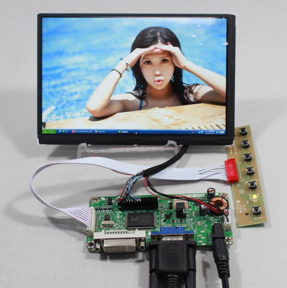 DVI VGA LCD controller board with 7inch N070ICG LD1 1280x800 IPS lcd panel  Reversal 39pin стоимость