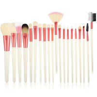 20PCS Professional Wooden Handle Makeup Brush for Foundation Blusher Powder Eyebrow Cosmetic Brush Tools