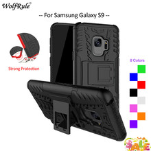 For Cover Samsung Galaxy S9 Case TPU & PC Holder Armor Protective Phone Case For Samsung Galaxy S9 Cover For Samsung S9 5.8'' цена и фото
