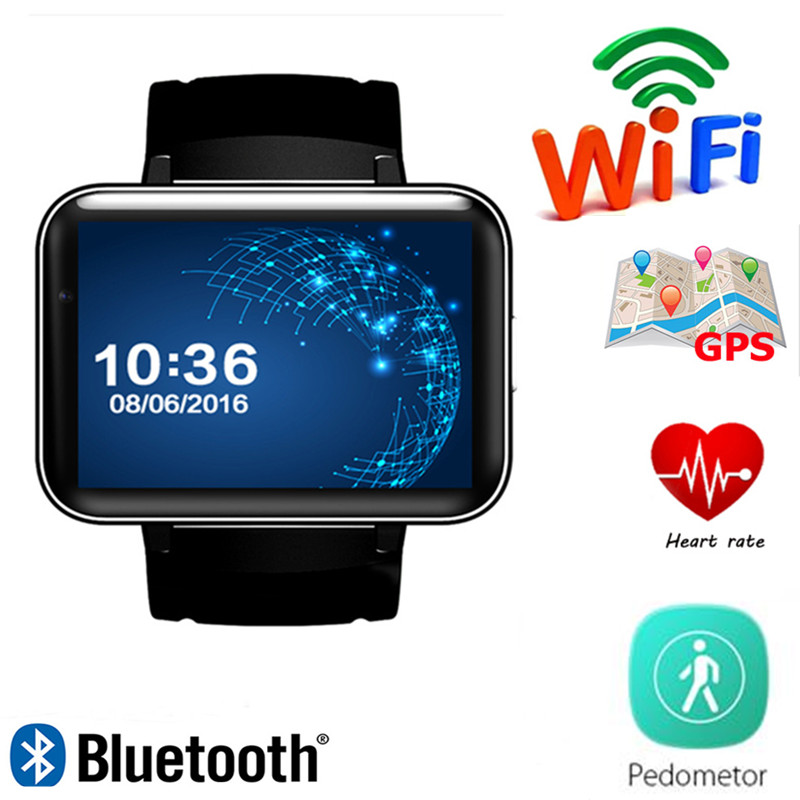 Smart Watch DM98 GPS 3G Android With SIM Card Pedometer Sports Tracker Smartwatch Phone 900mAh Wifi BT4.0 Wristwatch Men цена