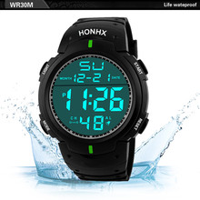 New Upgrade Luxury Men Fashion Analog Digital Military Army Sport LED Waterproof Wrist Watch clock saat xfcs Free Shipping Gift