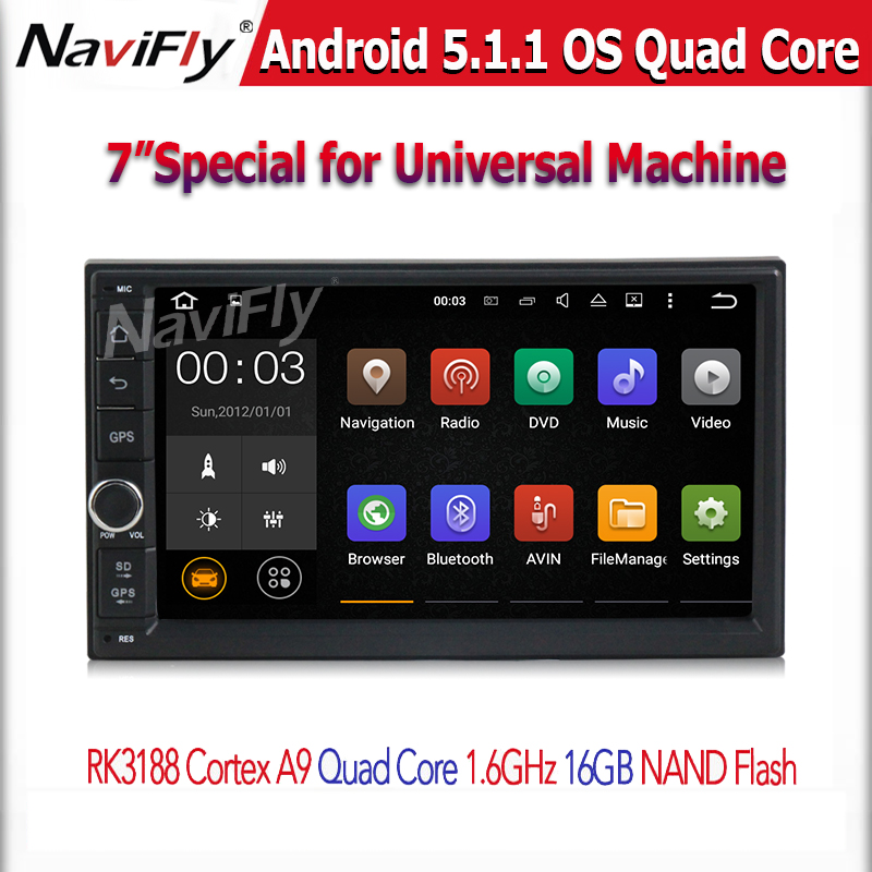 Free shipping 7'' Double 2Din Android 5.1 Car Multimedia GPS navi car Audio 2 din 7 inch car Stereo auto Radio Navigator
