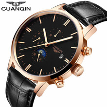 GUANQIN Male Mechanical Watches Luxury Automatic Watch Date Clock Business Wrist Watch Simple Ultra Thin Relogio Masculino