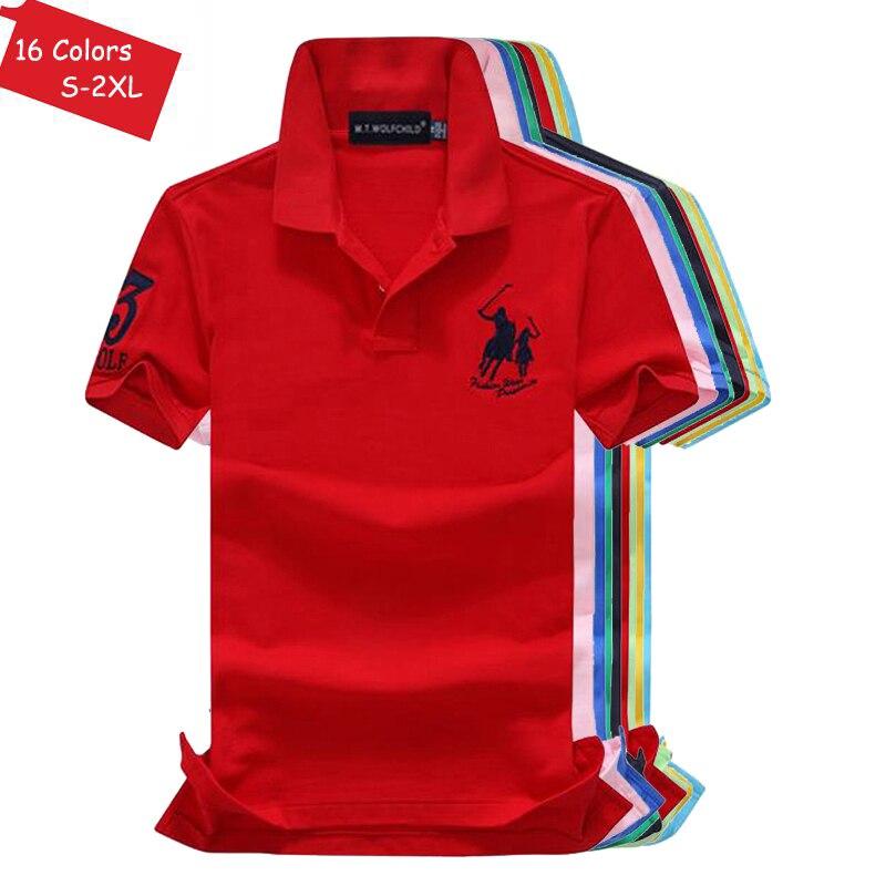 Good quality 2018 New Summer brand Mens short sleeve polos shirts casual mens cotton lapel polos shirts fashion mens slim tops