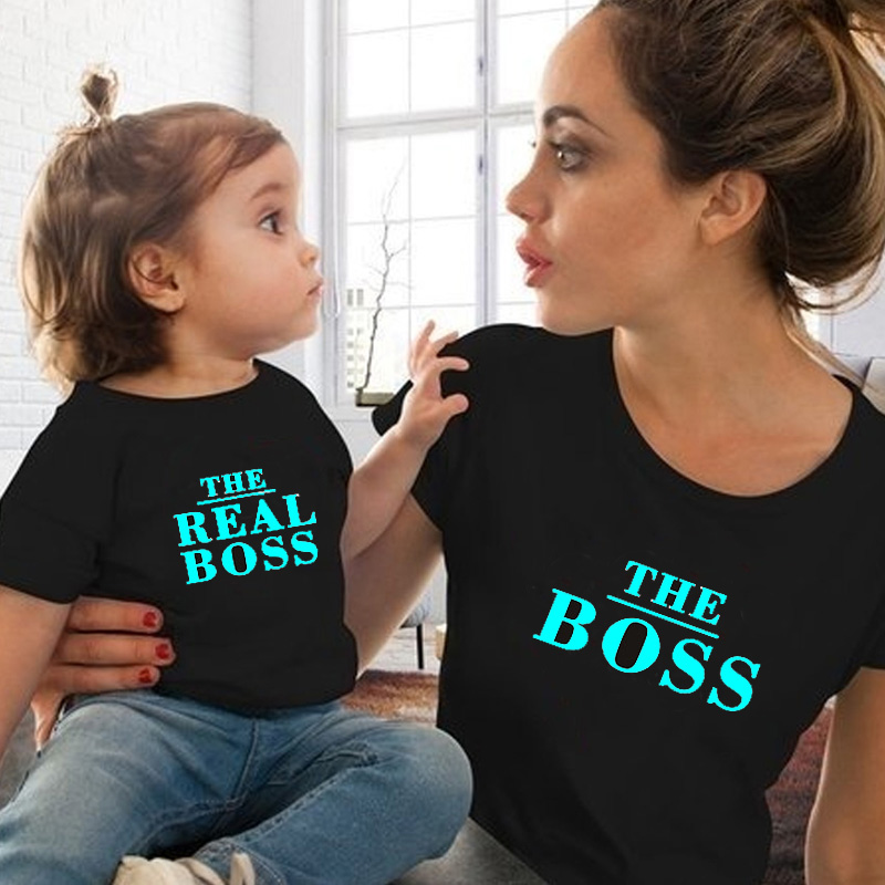 2019 Summer Mommy And Me Clothes Mum Mother Daughter Family T Shirt Matching Clothes Cotton Mom Son Tshit Outfits