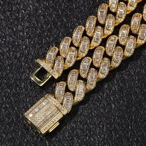 Image 4 - Hip Hop Micro Pave AAA sześcienne cyrkonie Bling Iced Out plac CZ kamień kubański Link Chain Chokers naszyjniki dla mężczyzn biżuteria raper