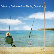 55-100cm Extending Stainless Steel Fishing Bankstick Adjustable Carp Fishing Bank Stick Fish Rod Pod Rest for Bite Alarm