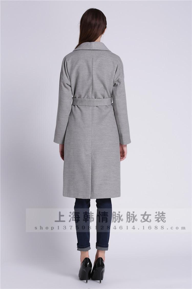 Femmes Mode Chaud Gris L870 2016 Nouveau Européenne Vêtements De Laine Design Trench Surdimensionné D'hiver Gray Manteau wqIPzS6xP1