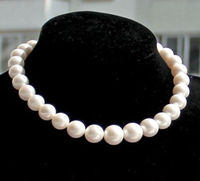 10x10 Jewerly Free Shipping Charming AAA 18 12 13mm Real Natural South Sea White Pearl