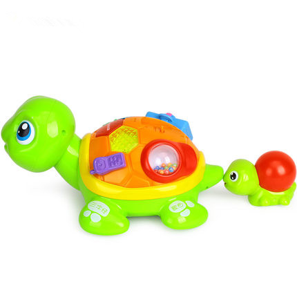 electronic pet Parent-Child Tortoise Interactive B/O Electric Animal Puzzle Turtle Toddler Crawling Baby Toys for 6M