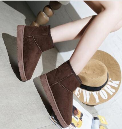 2018New зимние ботинки женские короткие ботинки на плоской подошве утепленные бархатные теплые хлопковые сапоги V12