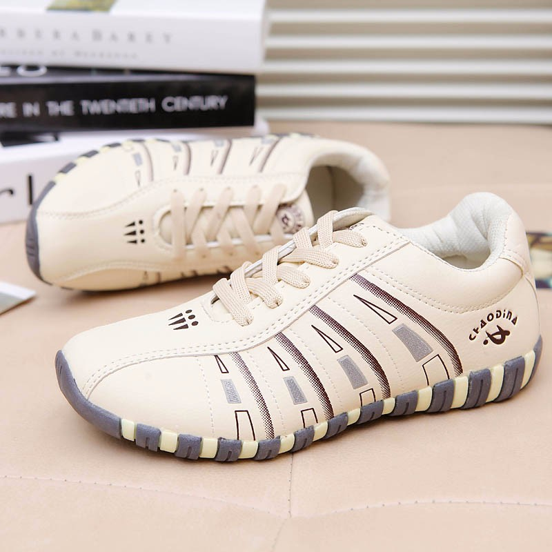 KUYUPP Fashion Breathable Leather Women Casual Shoes Lace Up Woman Trainers Outdoor Women Low Toe Shoes Zapatillas Mujer YD122 (25)