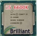 Оригинальный Процессор i5 6600 К 14nm Quad Core 3.5 ГГц LGA 1151 Кэш TDP 95 Вт 6 МБ С HD графика Рабочего ПРОЦЕССОРА