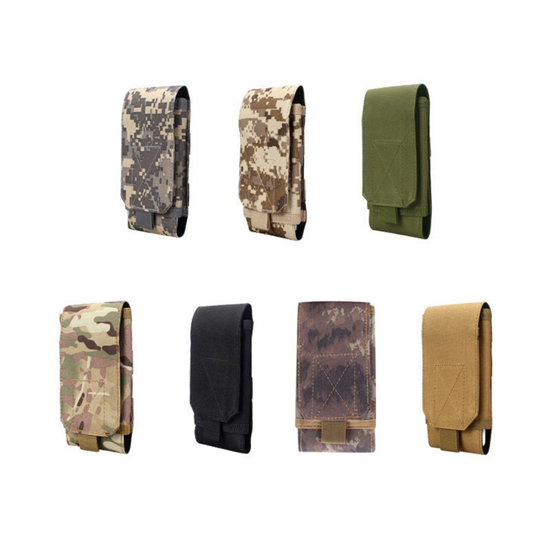 Safe Outdoor Camouflage Bag Tactical Army Phone Holder Pack Sport Waist Belt Case Waterproof Nylon Sport Pouch Hunting Camo Bags nylon 800d mobile phone waterproof wear belt outdoor sports purse bag army tactical camouflage bags