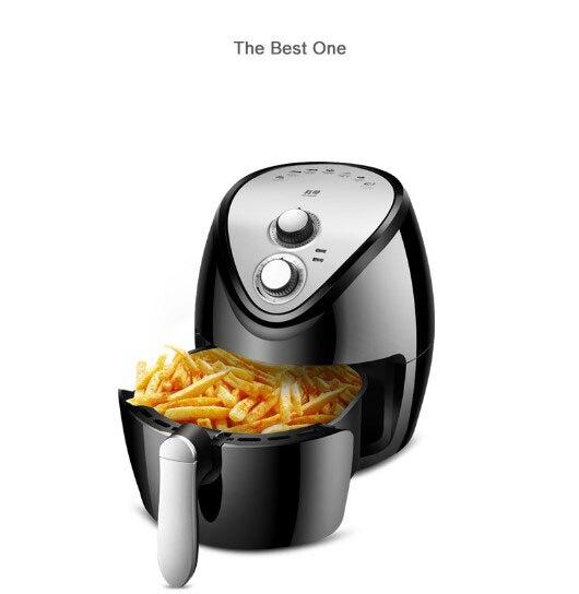 Intelligent sans huile 3.8L Automatique DÉCHIQUETEUSE friteuse à air domestique Four multi-fonctions PAS copeaux de fumage pépites mozzarella fabricant de bâton