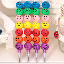 New 20pcs /Lot Smiley Pencils Creative Sugar-Coated Haws Stationery Pencil Kid Children School Office Supplies Prize Gift