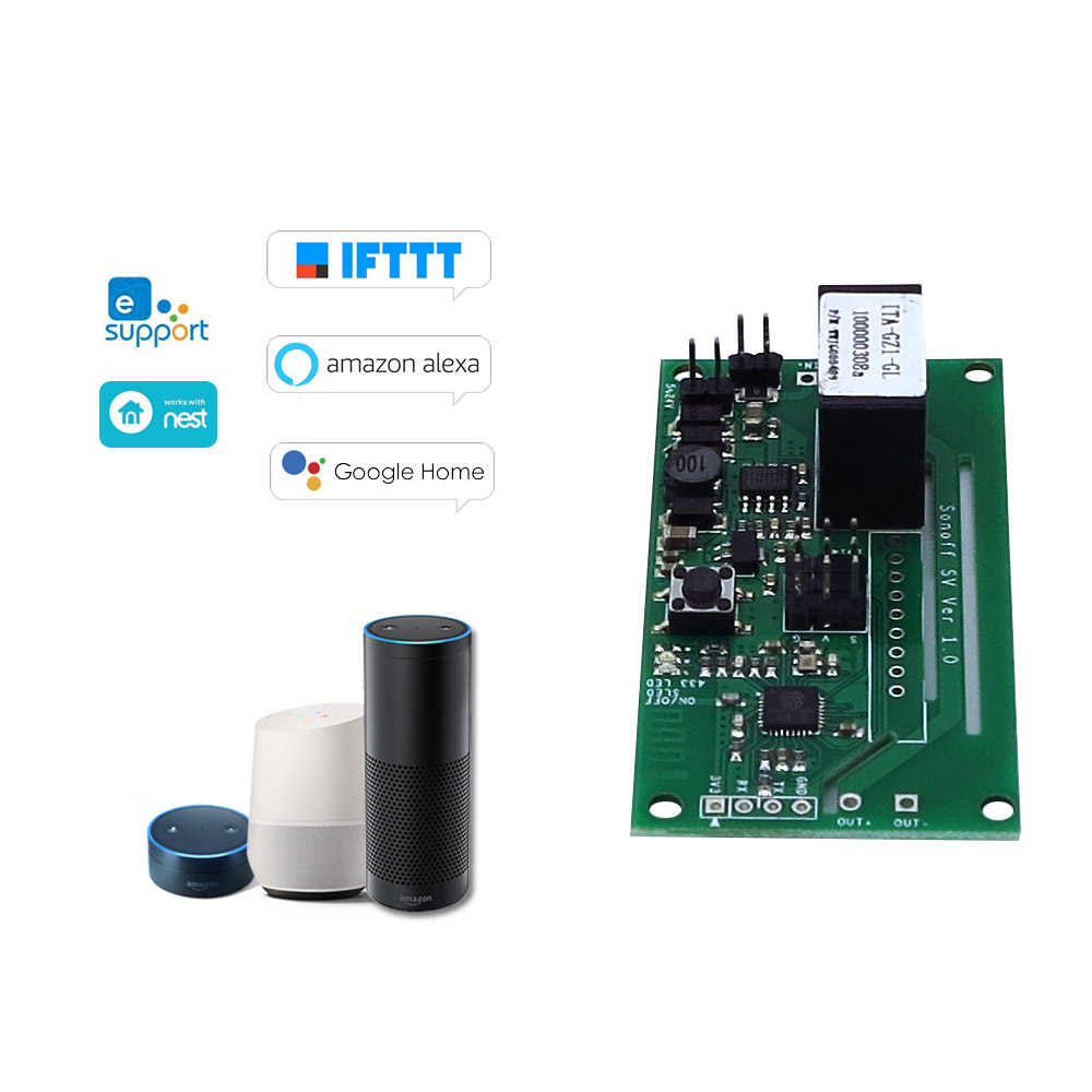 SV ITEAD 安全電圧 DC 5-24V WiFi ワイヤレススイッチモジュールサポート二次開発タイミング IOS/アンドロイドアプリ制御