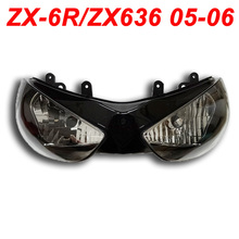 For 05-06 Kawasaki ZX6R ZX636 ZX 6R 636 Motorcycle Front Headlight Head Light Lamp Headlamp CLEAR 2005 2006 недорого