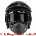 Новое поступление наиболее популярные съемная модульная маска очки и рот фильтр для мотоциклетный шлем Moto шлем каско Capacete