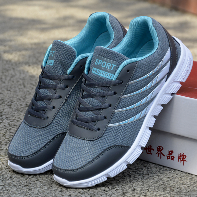 2017 font b Men b font Casuals Shoes Size 39 46 Summer Lace up Breathble Air