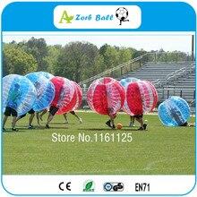 10 шт./лот+ 1 воздуходувка бесплатно, дешевая цена, хорошее качество пузырь футбол для командного строительства и вечерние, бампер мяч, Зорб