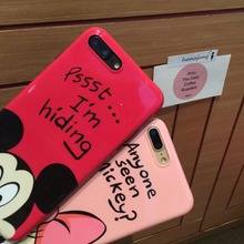 Cute Mickey Minnie Mouse Donald Daisy Duck Pattern Shockproof TPU Back Shell Cover for iPhone X 6 Plus 6 6S 7 7Plus