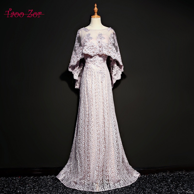 Taoozor Luxury Hande Made Sparking Pearls Straight Evening Dresses