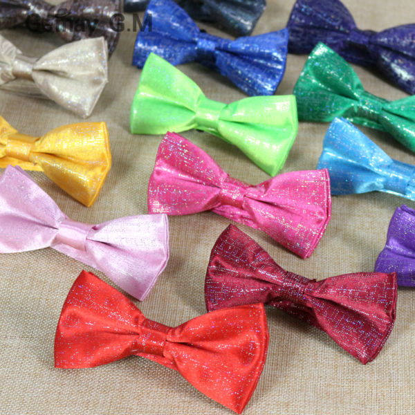 Free Shipping NEW Classic Sequins Bowtie Fashion Neckwear Adjustable Man Wedding BowTie solid Polyester Leisure Bowties for man