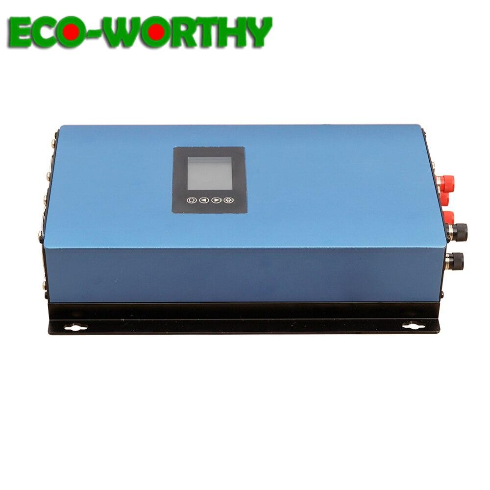 ECOworthy 1000 W DC 45-90 V/DC 22-65 V grille cravate onduleur commutateur automatique LCD MPPT fonction onde sinusoïdale Pure pour système d'énergie solaire