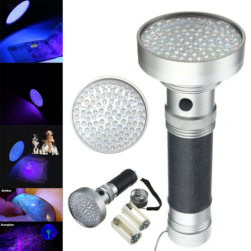100 LED UV Bulbs Ultra Violet Portable Blacklight Scorpion Flashlight Detector Ultraviolet Lamp <font><b>Light</b></font> Torch Lamp <font><b>Light</b></font> Mayitr