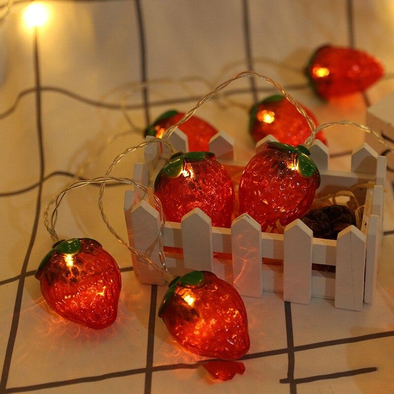 Lights & Lighting Considerate 10 Led Fairy Fruit Lemon Strawberry Banana Battery Operated String Lights Led 1m Decor For Christmas Garland New Year Gerlyanda Rapid Heat Dissipation