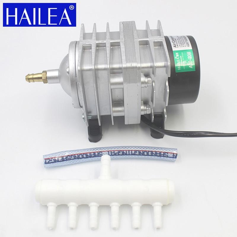Hailea 25 W 30 W 45 W 55 W Bombas De Ar Hidro Bomba de Ar Do Tanque de Peixes De Aquário De Aço Inoxidável Comercial bombas de Oxigênio Magnético elétrico