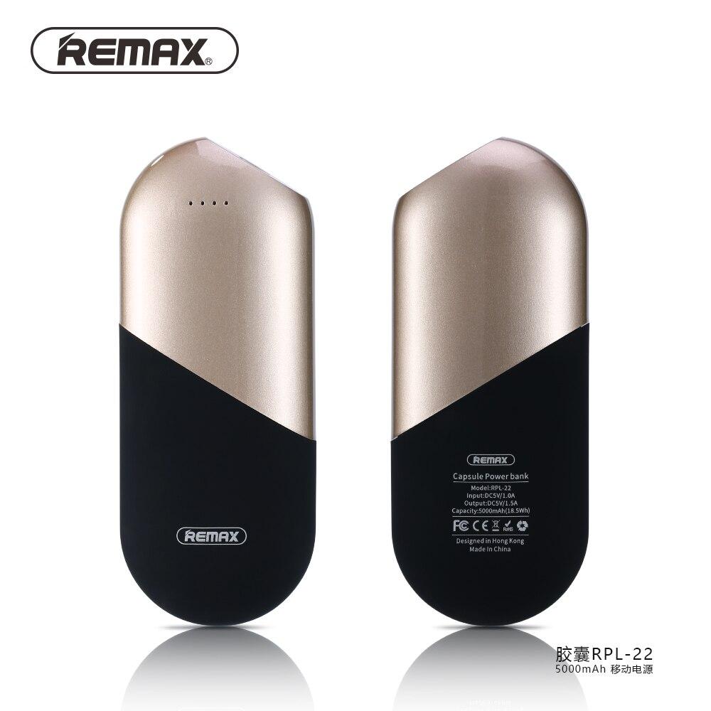 imágenes para Banco de la energía 5000 mah externo portátil cargador de batería del teléfono remax mini caja powerbank de carga rápida cargador portátil para iphone