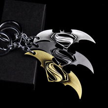 Фотография New Superhero Marvel Batman Keychain For Men Trinket Super Hero Bat Metal Car Key Chain Chaveiro Key Ring Jewelry Gift Souvenirs