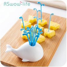 Children's Cute Fruit Fork Set Creative Fruit Sign Household Plastic Small Forks Kids Dessert Fork For Kitchen Supplies anya d596 creative peking opera facial mask pattern plastic food fruit forks multicolored 12 pcs