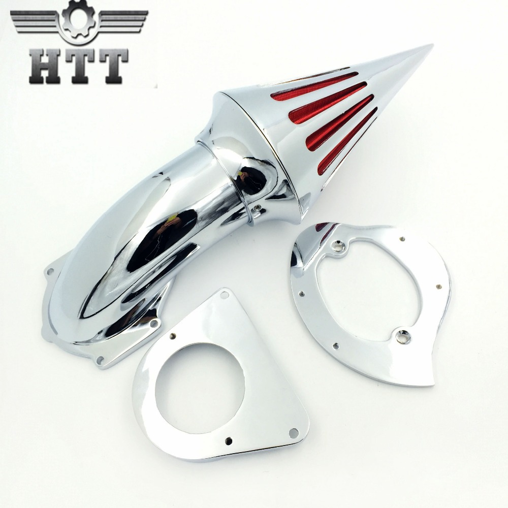 Aftermarket free shipping motorcycle parts Spike Air Cleaner intake filter for Kawasaki Vulcan 800 Classic 1995-2012 CHROME chrome spike air cleaner kit intake filter for 1998