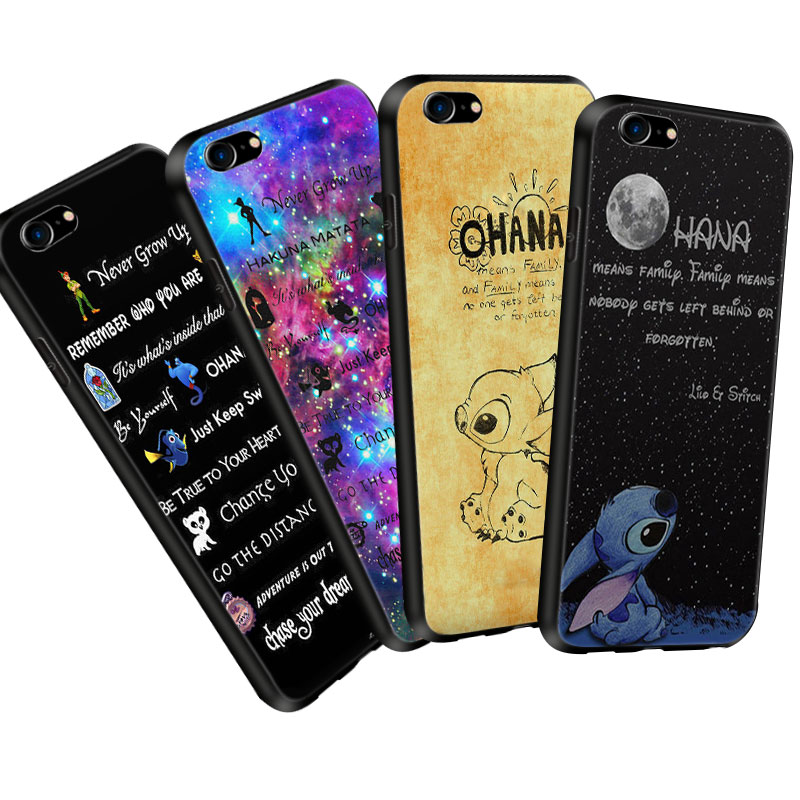 For iPhone XS Max Case Lilo Stitch Ohana Soft Silicone Phone Cases for iPhone X XR 5 5s SE 6 S 6s 7 8 Plus Cover