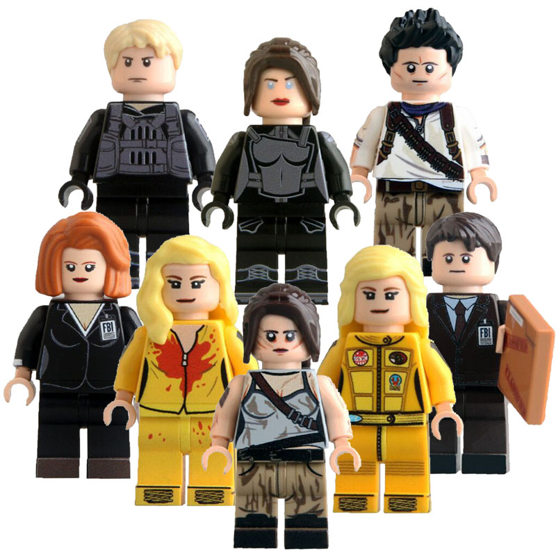 CZHY Bricks Blocks Toys Movie Kill Bill Figures Uma Thurman The Bride Nathan Drake Kettenis FBI Agent Kids KL9011 kl069 single sale the x files agent vol 1 uma thurman the bride bricks building blocks figures for children gifts toys kl9011