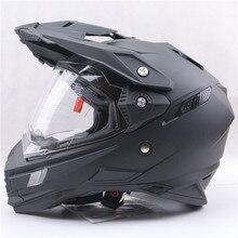 Шлемы профессиональный двойной объектив crossmotor каско мотоциклетный шлем moto off road гонки шлемы
